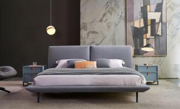 Elegantná látková posteľ R2D1351