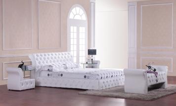 Štýlová kožená posteľ