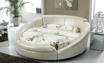 R2D1183 okrúhla manželská posteľ