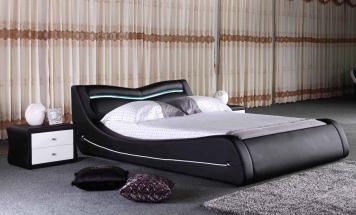 Exkluzívna posteľ v koži