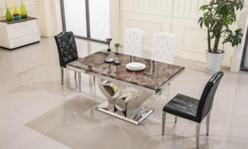 Stôl z hnedého mramoru
