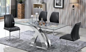 Jedálenský sklenený stôl