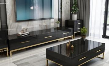 Čierne lesklé stolíky R2D1260