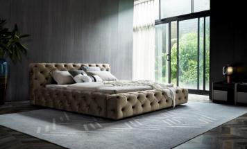 Luxusná látková posteľ R2D1331
