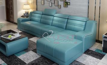 Rohová sedačka s farebným lemovaním