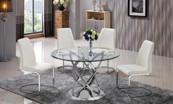 Sklenený okrúhly stôl R2D1273