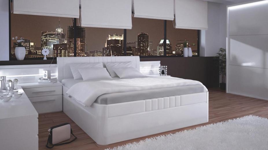 FLORENCIA biela luxusná posteľ