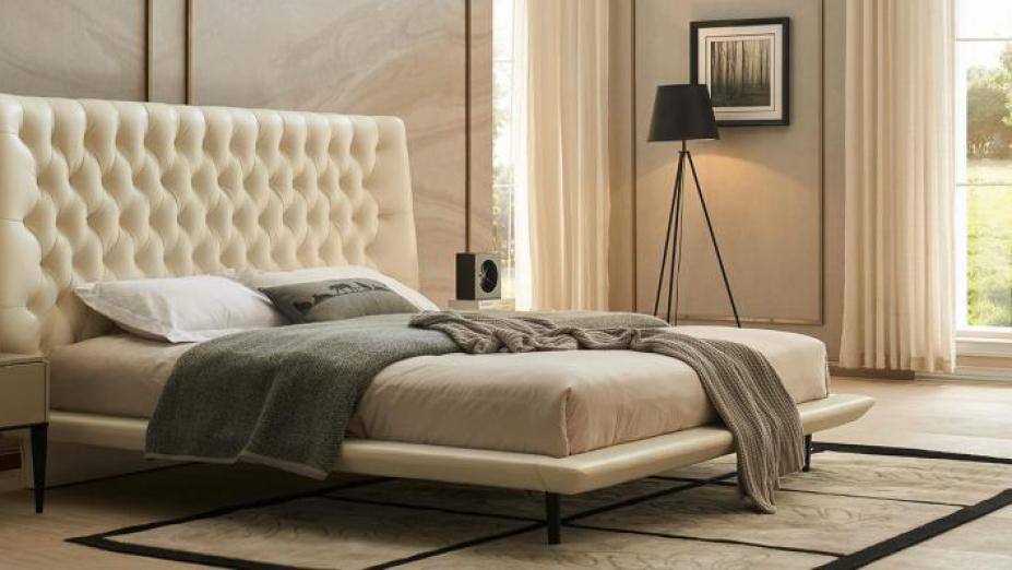Luxusná kožená posteľ R2D1349