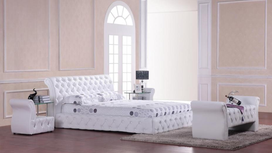 R2D1172 štýlová kožená posteľ
