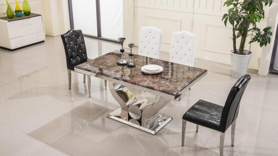 R2D1205J stôl z hnedého mramoru