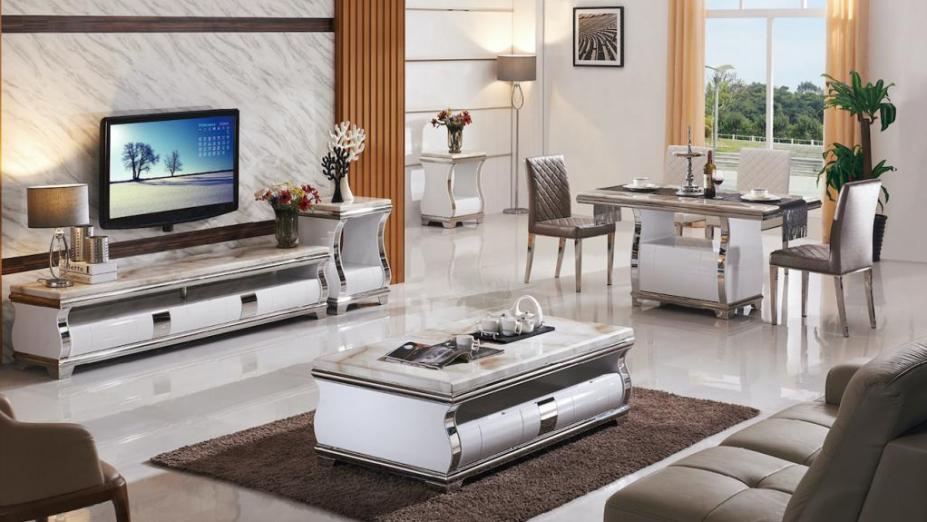 R2D1215 elegantné mramorové stoly