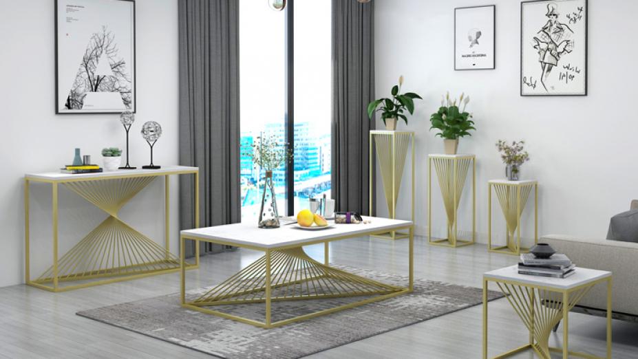 R2D1263 biele mramorové stoly
