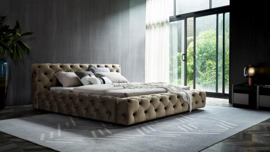 R2D1331 luxusná látková posteľ