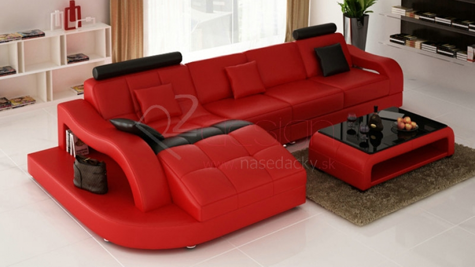 R2D558L kožená sedačka s vlnou