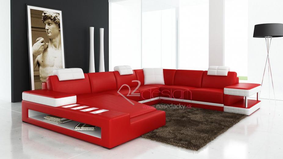 R2D713 moderná kožená sedačka