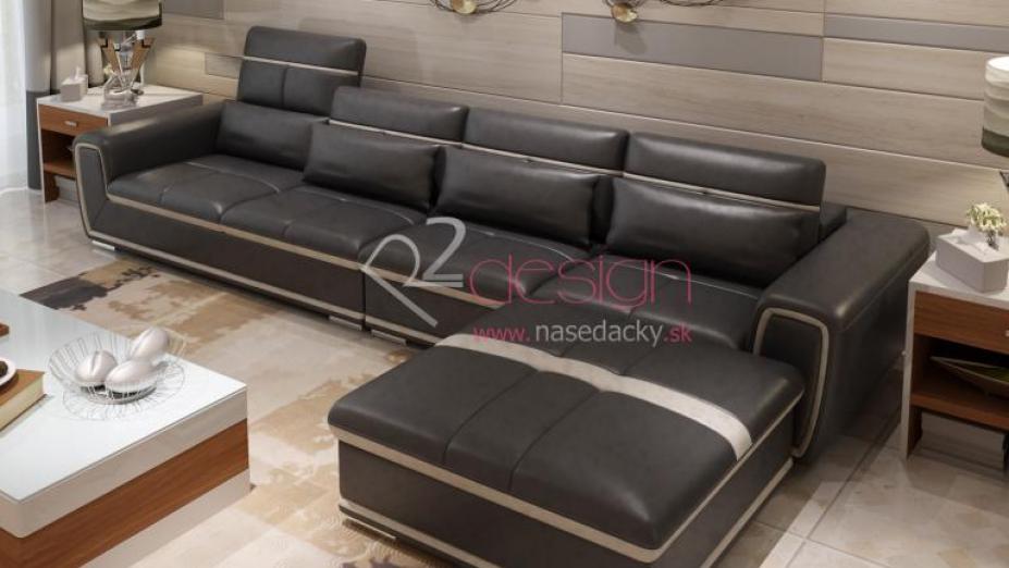 R2D719L luxusná rohová sedačka s opierkami