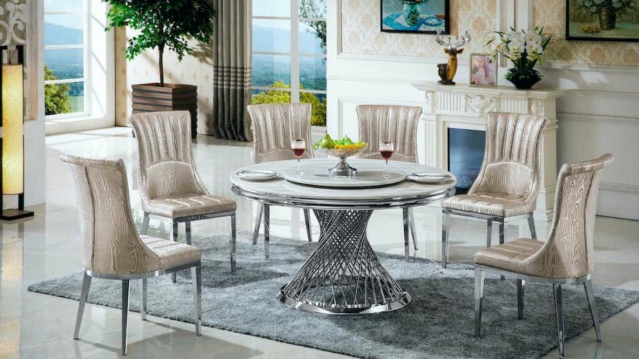 Stôl s otočným mramorom R2D1267